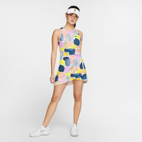 NikeCourt Womens Team Dress Melbourne - Lilac Mist/Off Noir