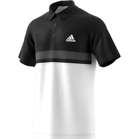 Adidas Mens Club Colour Block Polo black/white
