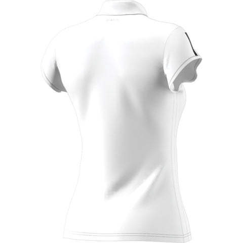 ADIDAS WOMENS CLUB 3 STRIPE POLO WHITE/BLACK
