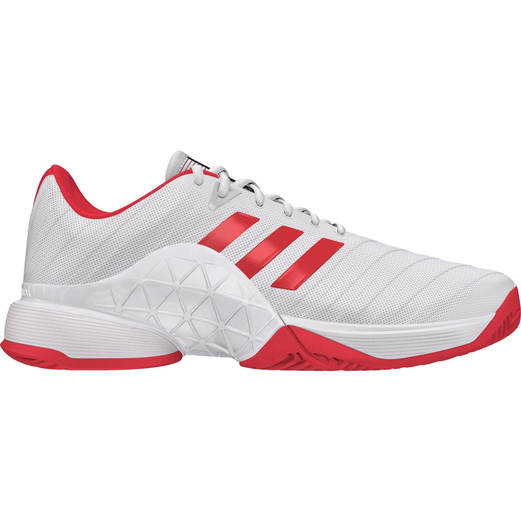 3330d5629d687d Adidas Womens Barricade 2018 white red