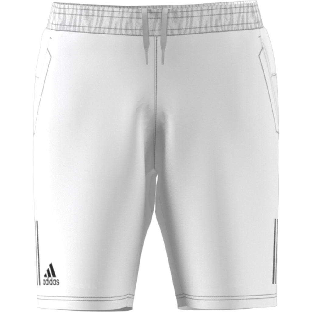 Adidas Club 3 Stripe Short white