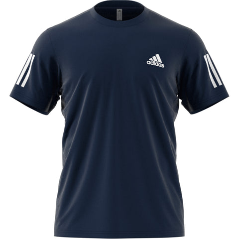 Adidas Club 3 Stripe Tee navy/white