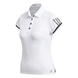 Adidas Club 3 Stripe Polo - White
