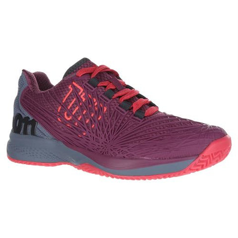 Wilson Womens Kaos 2.0 - Plum/Flint/Neon Red