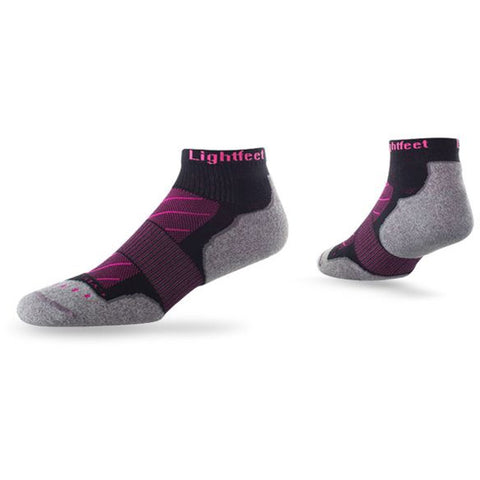""" LIGHTFEET EVOLUTION MINI CREW SOCK BLACK/PINK"""
