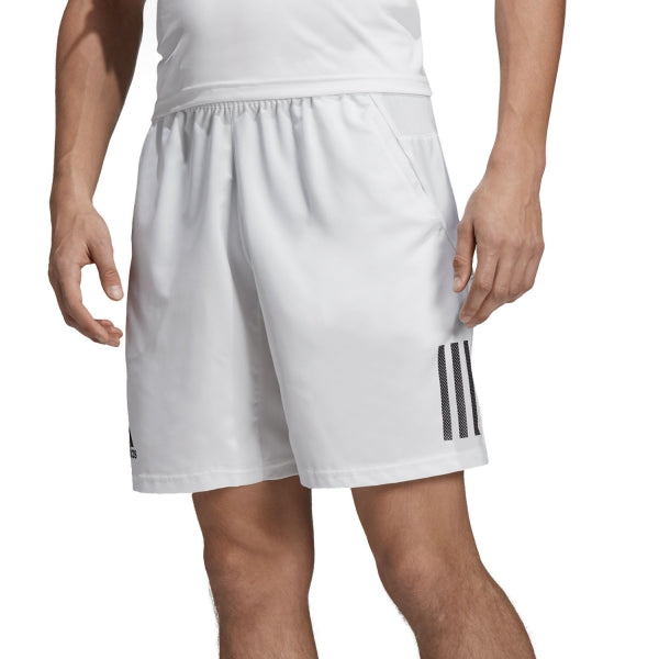 Adidas Boys Club 3 Stripe Short WhiteBlack