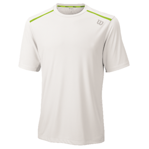 Wilson Mens Summer Jacquard Crew white/green
