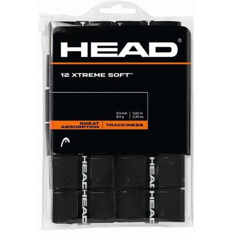 Head Xtreme Soft Overgrip 12 Pack black