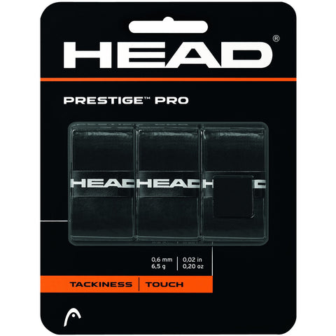 Head Prestige Pro Overgrip 3 Pack black