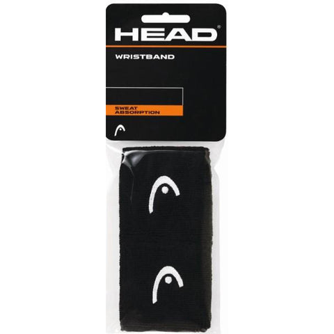 Head 2.5 inch Wristbands black