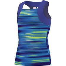 Adidas Girls Response Tank blue/yellow