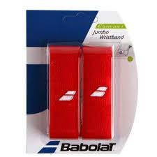 Babolat Jumbo Wristband 2 Pack red