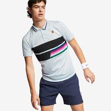 Nike Court Advantage Mens Polo half-blue/black