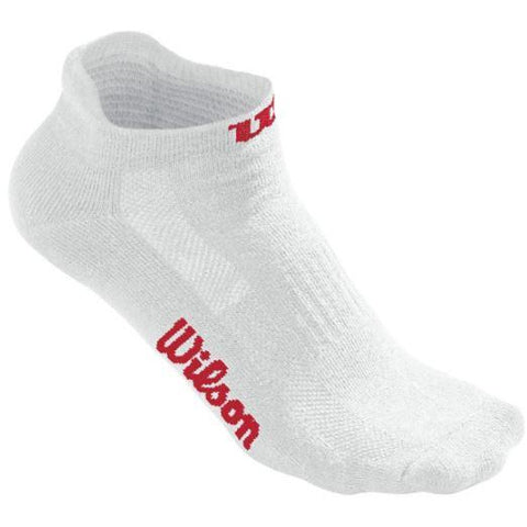 Wilson No Show Sock 3 Pack white