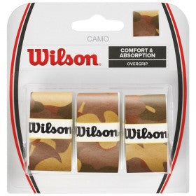 WILSON OVERGRIP 3 PACK CAMO BROWN