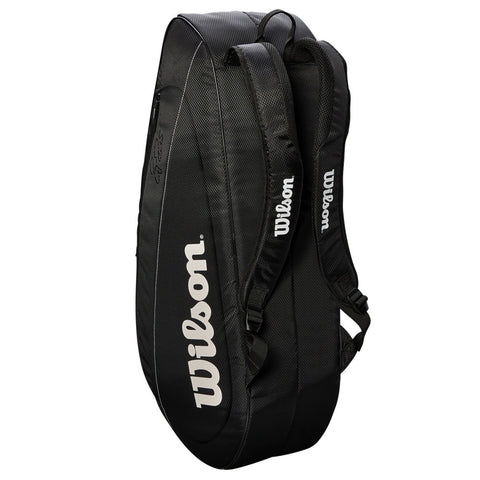 Wilson Federer Team 12 Pack Racquet Bag black/white