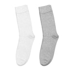 Indivita Hemp Socks - 2 Pack White/Grey