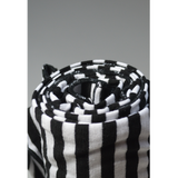 Black and White Stripe Nursing Poncho