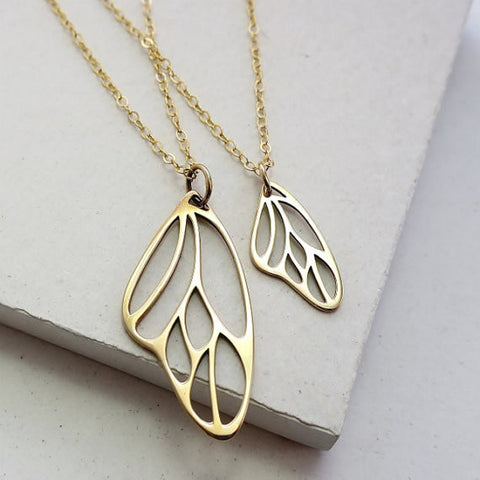 Double Heart Necklace Set