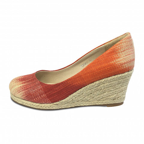 Carmen Coral/Crimson Wedge