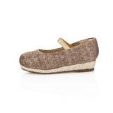 Carmen Jr Beige Wedge - meNmommy.com  - 4