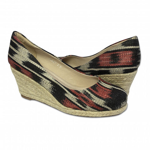 Reese D'Orsay Jr Flats - Snake and Peweter