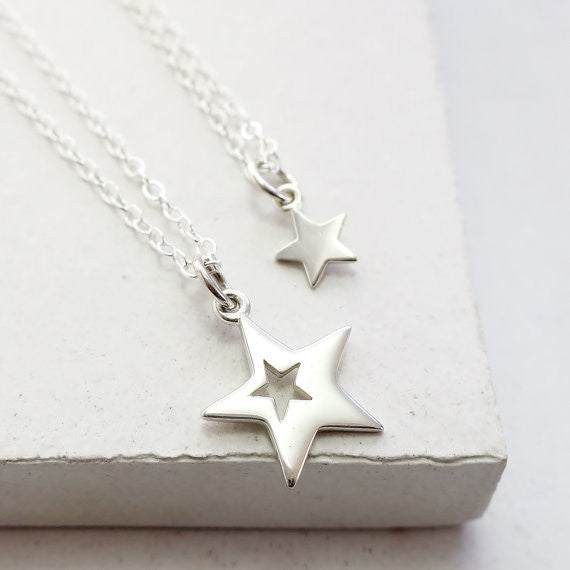 Cut Out Star Necklace Set - meNmommy.com  - 1