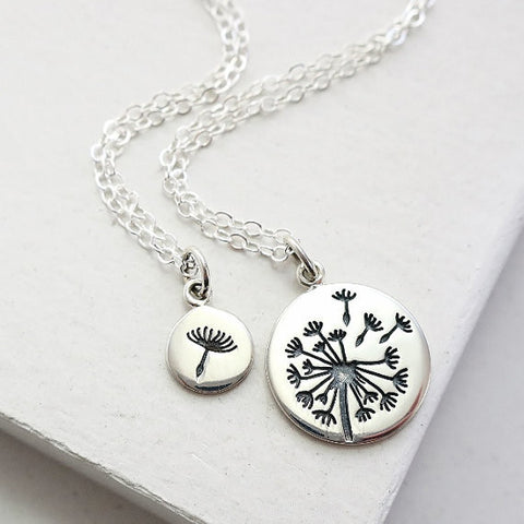 Dandelion Necklace Set