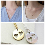 Heart Disc Triple Necklace Set - meNmommy.com  - 3