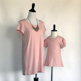 Amber T-Shirt Dress Jr. - in Rose Pink - meNmommy.com  - 4