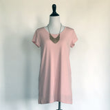 Amber T-Shirt Dress - in Rose Pink - meNmommy.com  - 4