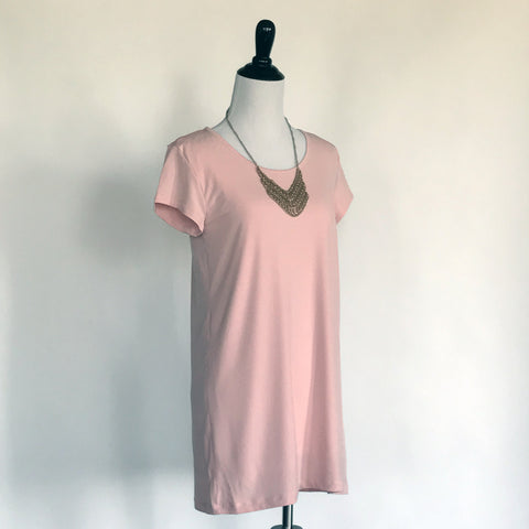 Amber T-Shirt Dress Jr. - in Rose Pink