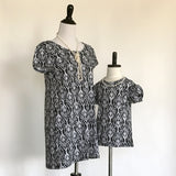 Amber T-Shirt Dress Jr. - Black and White - meNmommy.com  - 2