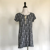 Amber T-Shirt Dress - Black and White - meNmommy.com  - 3