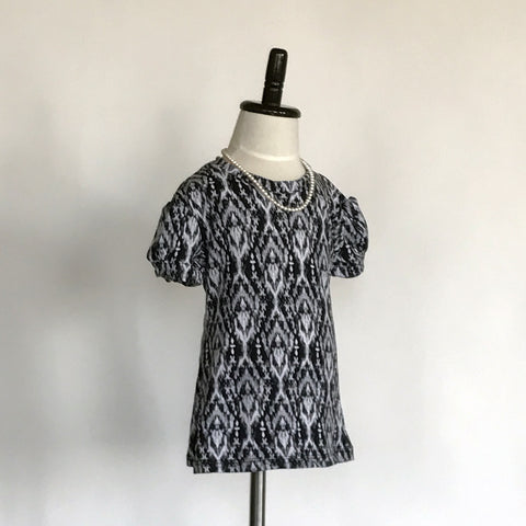 Amber T-Shirt Dress Jr. - Black and White
