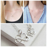 Infinity Heart Necklace Set - meNmommy.com  - 3