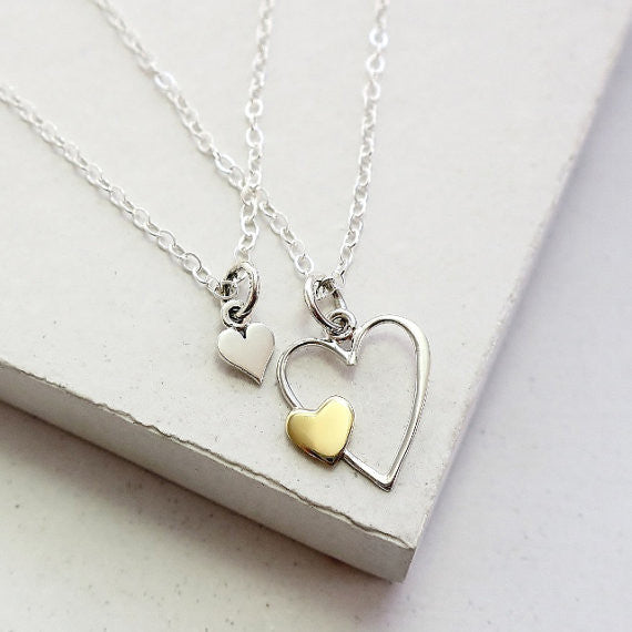 Double Heart Necklace Set - meNmommy.com  - 1