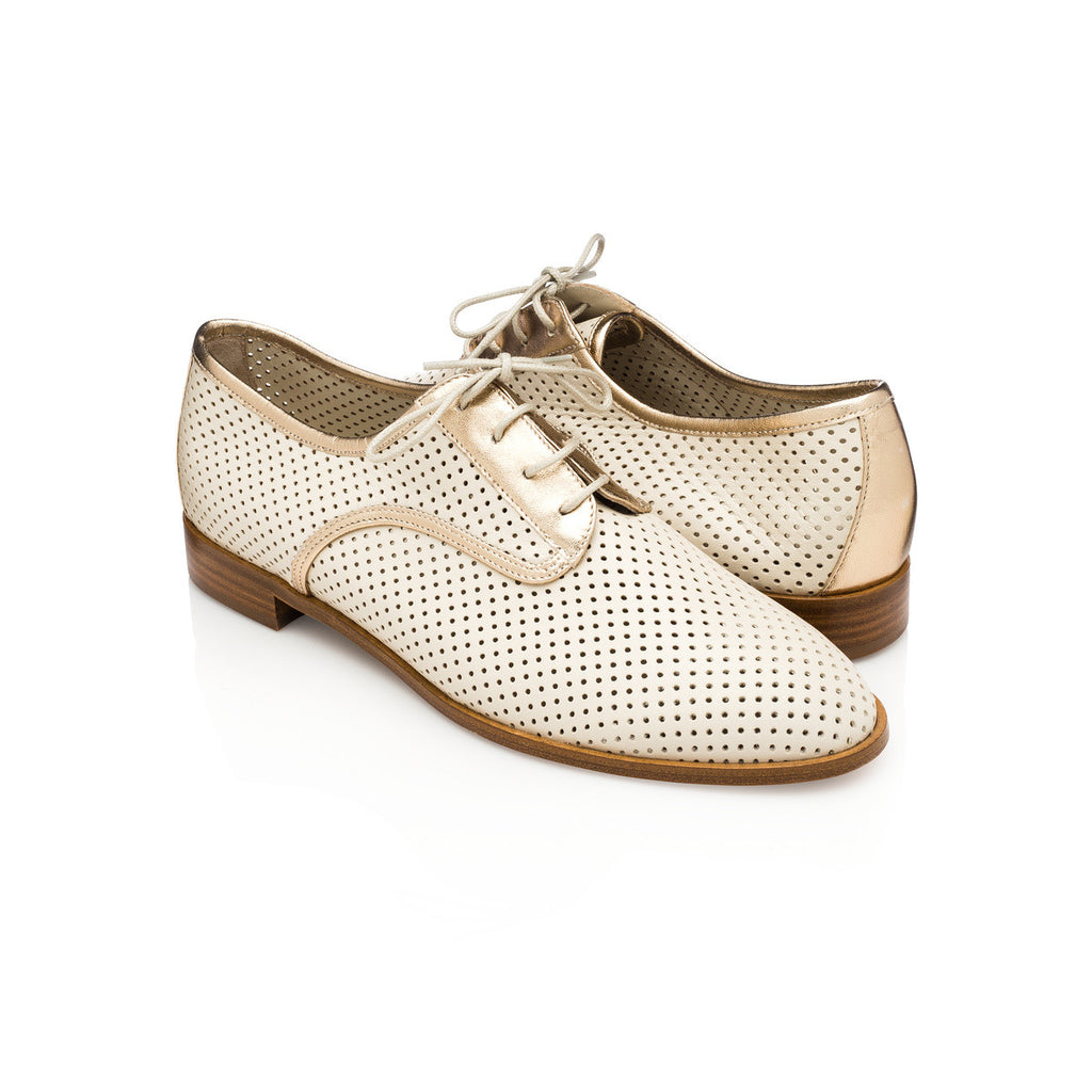 Lesly Derby Oxford - Vanilla Gold - meNmommy.com  - 1