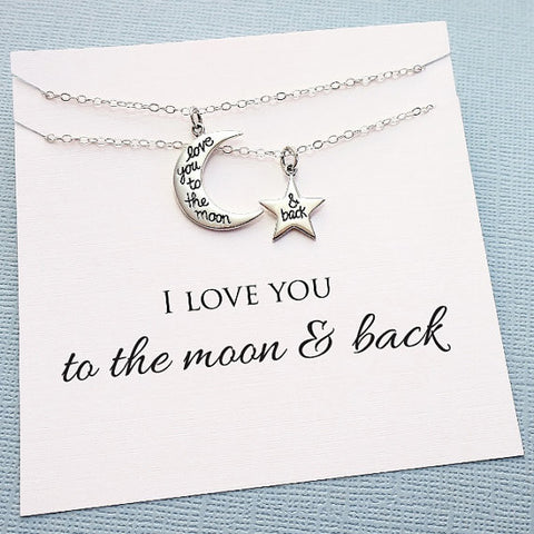 To The Moon and Back Necklace Set