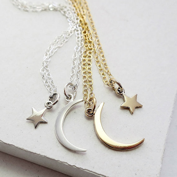 Moon and Star Necklace Set - meNmommy.com  - 1