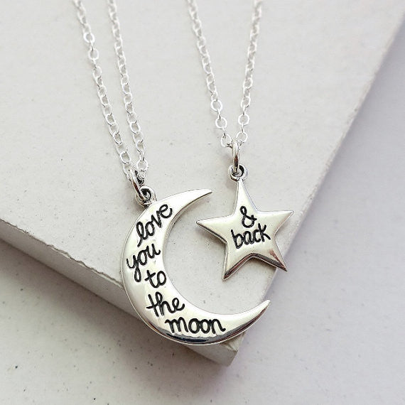 To The Moon and Back Necklace Set - meNmommy.com  - 1