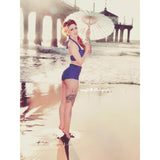 Bella High Waist Bikini - Royal Blue