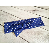 Bella Polka Dot Head Wrap Jr - Royal Blue