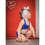 Bella Mini Polka Dot Bikini  - Royal Blue