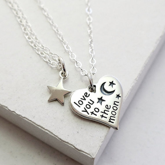 Love You To The Moon Heart Set - meNmommy.com  - 1
