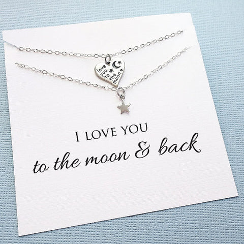 Love You To The Moon Heart Set
