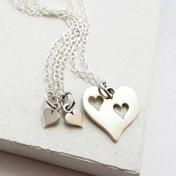 Triple Heart Necklace Set - meNmommy.com  - 1