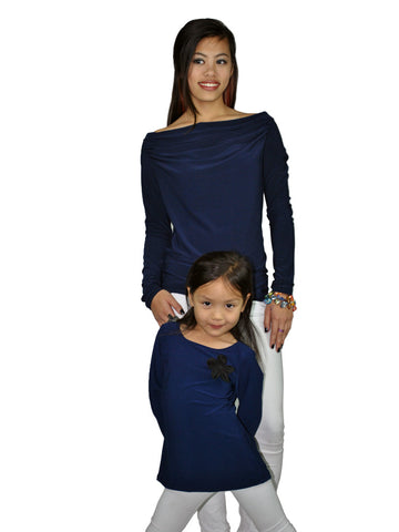 Sophia Navy Top Jr