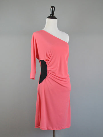 Amber T-Shirt Dress - in Rose Pink