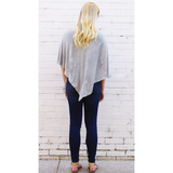 Light Grey Nursing Poncho - meNmommy.com  - 3